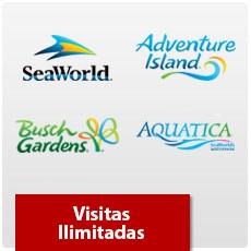 SeaWorld Orlando - Visitas Ilimitadas - Adulto ou Criança